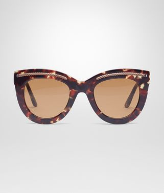 SUNGLASSES IN HAVANA ACETATE WITH GREEN LENS