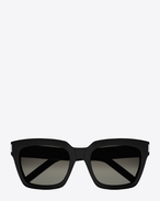 bold 1/f sunglasses in shiny black acetate with grey gradient lenses