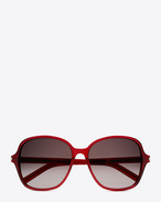 Classic 8/F Sunglasses in Shiny Transparent Burgundy Acetate with Burgundy Gradient Lenses