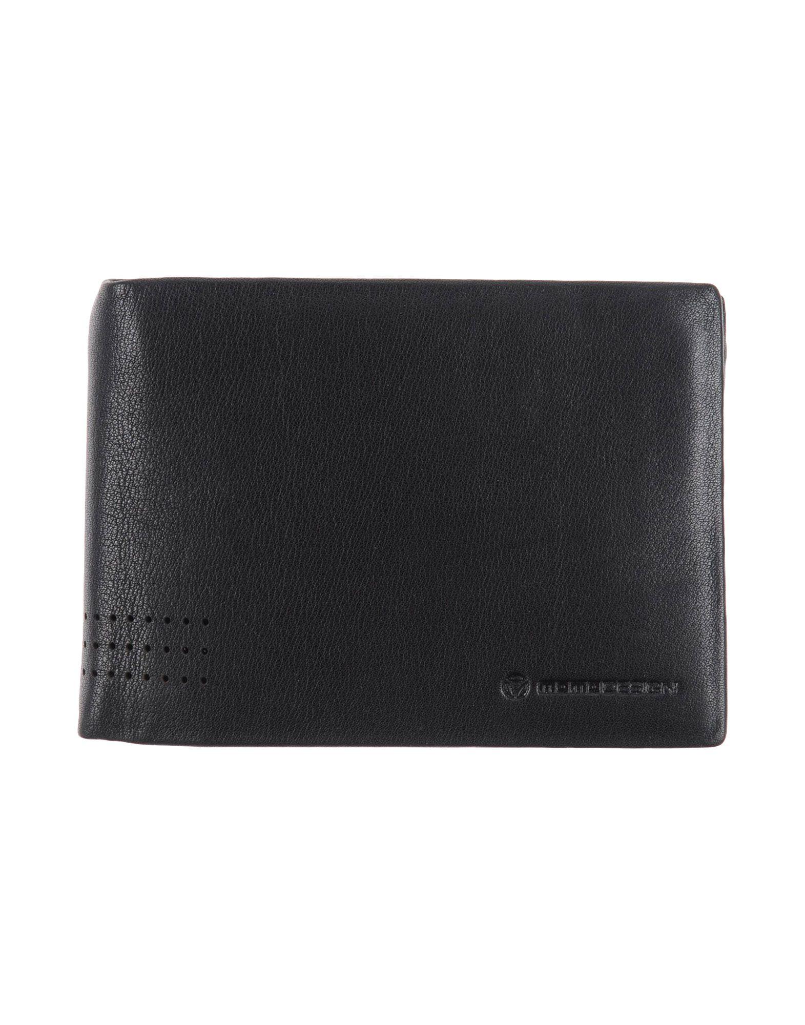 MOMO DESIGN Herren Brieftasche Farbe Schwarz Größe 1