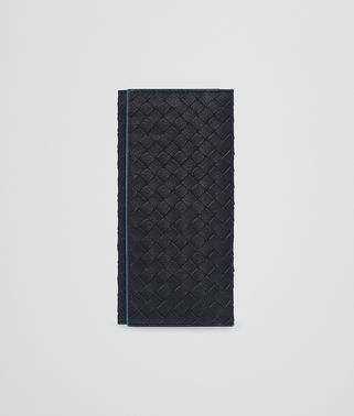 CONTINENTAL WALLET IN NEW DARK NAVY PEACOCK INTRECCIATO CALF