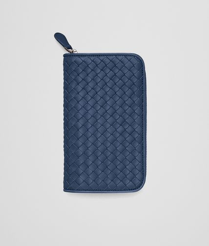 ZIP AROUND WALLET IN PACIFIC INTRECCIATO NAPPA