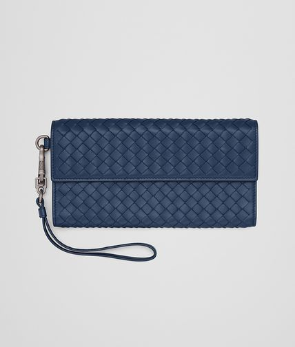 CONTINENTAL WALLET IN PACIFIC INTRECCIATO NAPPA