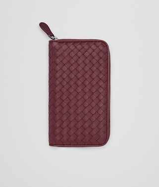 ZIP AROUND WALLET IN BAROLO INTRECCIATO NAPPA