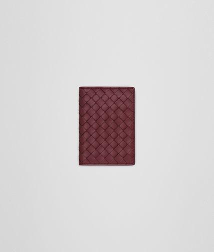 CARD CASE IN BAROLO INTRECCIATO NAPPA
