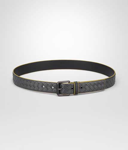 BELT IN ARDOISE ANCIENT GOLD NERO INTRECCIATO NAPPA
