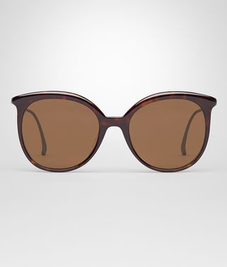 SUNGLASSES IN DARK HAVANA ACETATE WITH BROWN LENS
