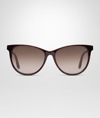 SUNGLASSES IN DARK HAVANA ACETATE WITH GRADIENT BROWN LENS