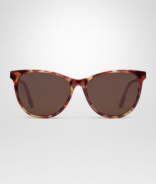 SUNGLASSES IN HONEY HAVANA ACETATE WITH BROWN LENS