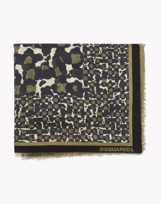 camo print stole other accessories Man Dsquared2