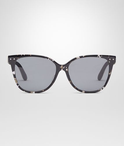 SUNGLASSES IN GREY HAVANA ACETATE WITH GREY POLAR LENS