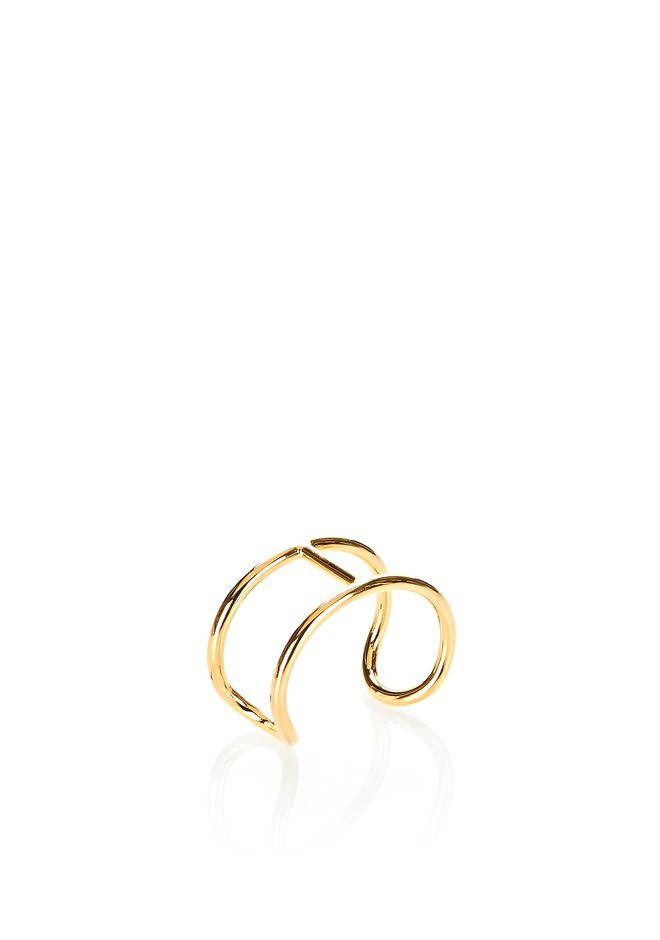 ALEXANDER WANG jewelry PILL CUFF BRACELET IN YELLOW GOLD