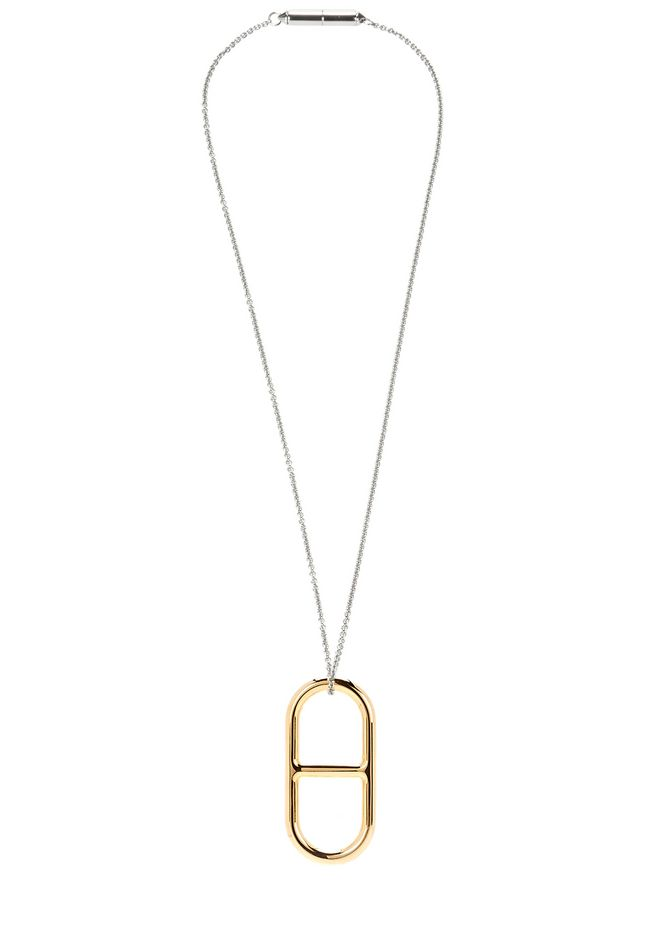 ALEXANDER WANG new-arrivals PENDANT NECKLACE IN YELLOW GOLD AND RHODIUM