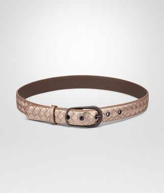 BELT IN ROSE GOLD INTRECCIATO GROS GRAIN