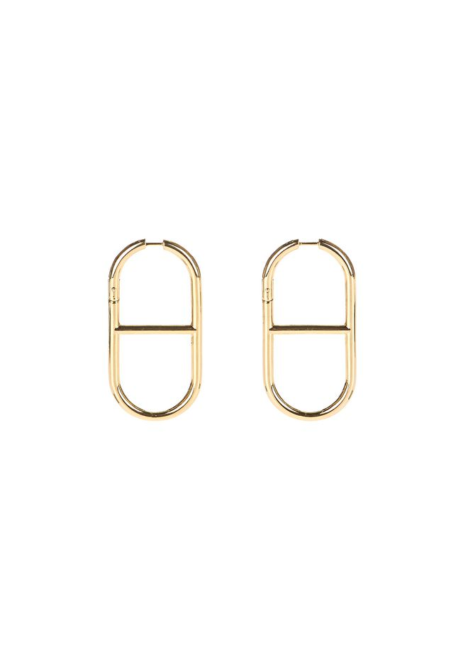 ALEXANDER WANG Accessories SLIM CHAIN LINK EARRINGS IN YELLOW GOLD
