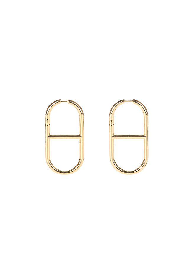 ALEXANDER WANG jewelry SLIM CHAIN LINK EARRINGS IN YELLOW GOLD