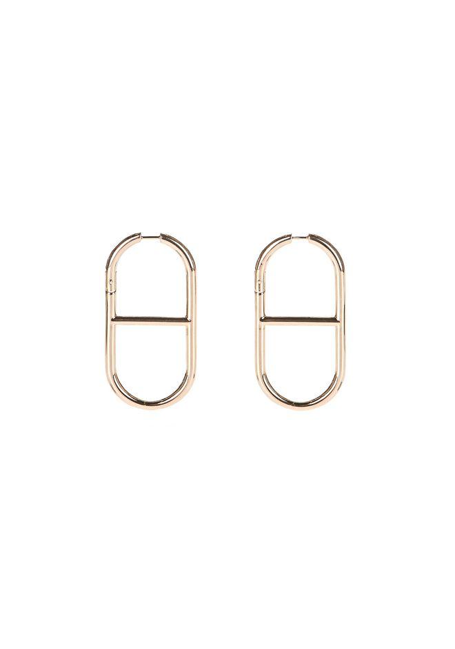 ALEXANDER WANG jewelry SLIM CHAIN LINK EARRINGS IN ROSE GOLD