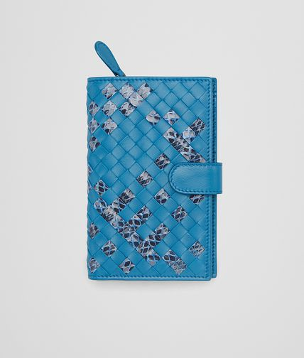 CONTINENTAL WALLET IN PEACOCK INTRECCIATO NAPPA AND AYERS