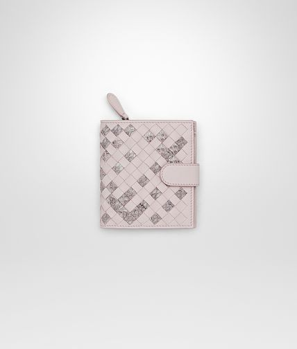 MINI WALLET IN ROSE BUVARD INTRECCIATO NAPPA AND AYERS
