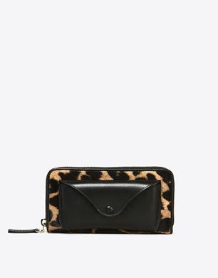 Maison Margiela Leopard-print calfhair wallet