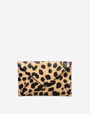 Maison Margiela Lambskin leopard-print pouch