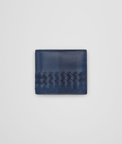 WALLET IN PACIFIC INTRECCIATO CALF WITH TARTAN DETAILS