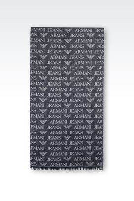 Armani Scarves Men scarf in branded fabric