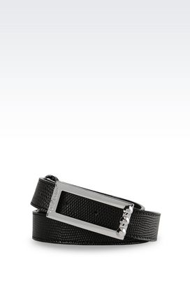 Armani Textile belts Women lizard print belt