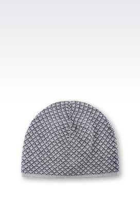 Armani Hats Men reversible virgin wool hat