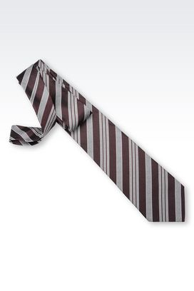 Armani Ties Men striped silk tie