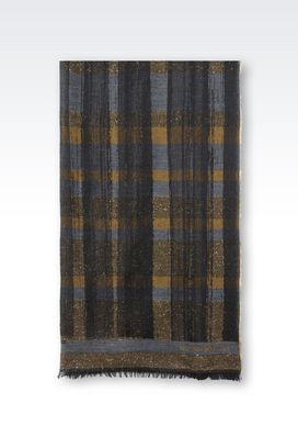 Armani Stoles Men wrap in wool blend