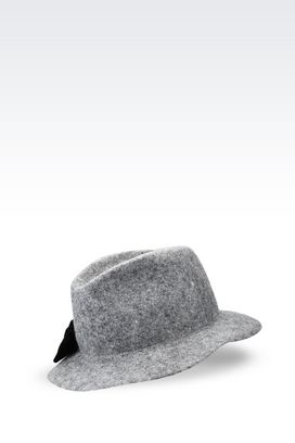 Armani Hats Women classic felt hat with bow