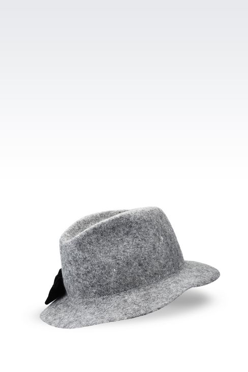 CLASSIC FELT HAT WITH BOW: Hats Women by Armani - 1