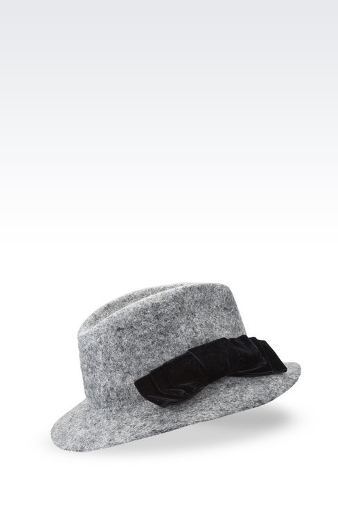 CLASSIC FELT HAT WITH BOW: Hats Women by Armani - 2