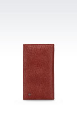 Armani Wallets Men yen wallet in printed calfskin