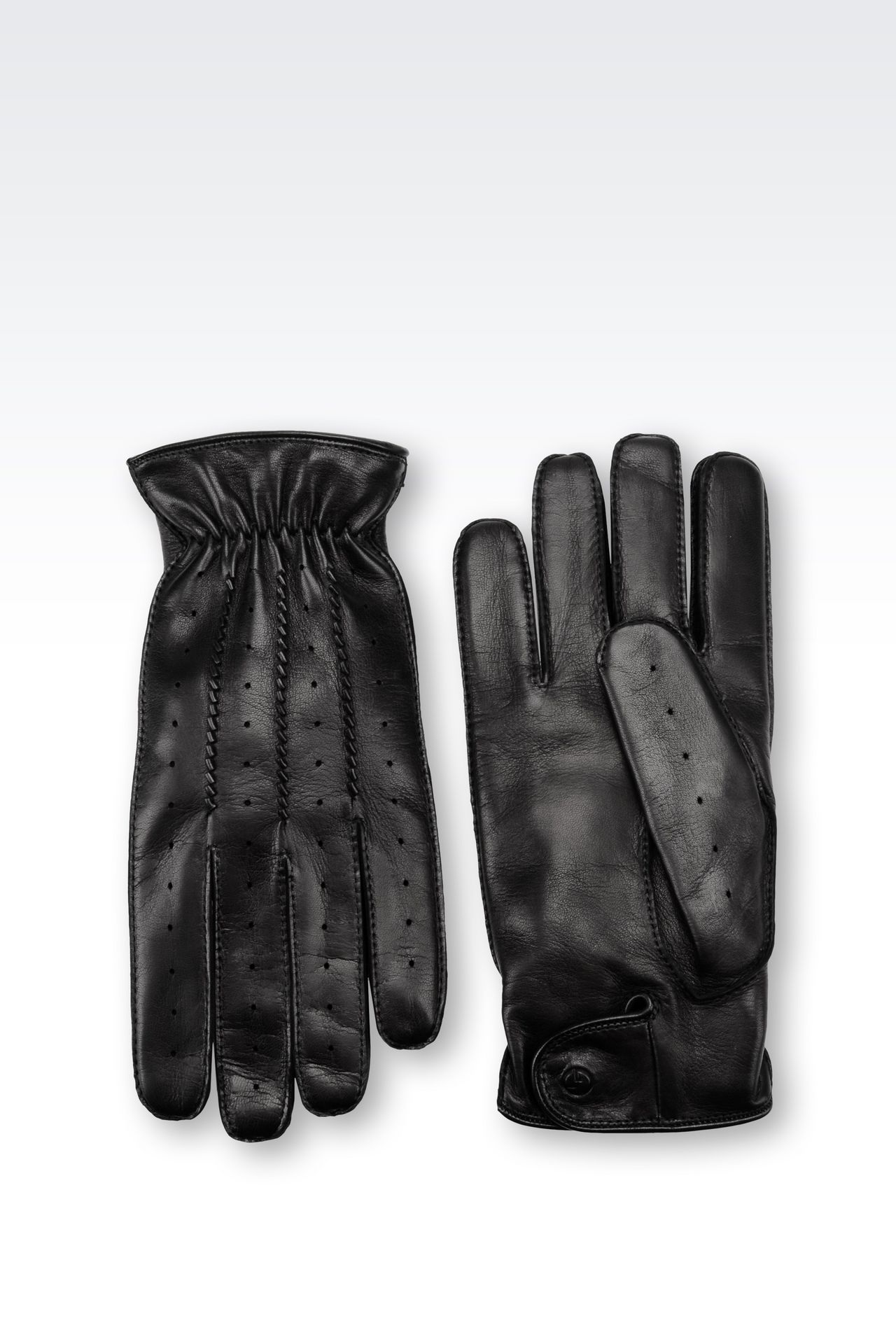 Armani exchange black leather gloves - Napa Leather Gloves Gloves Men By Armani 0
