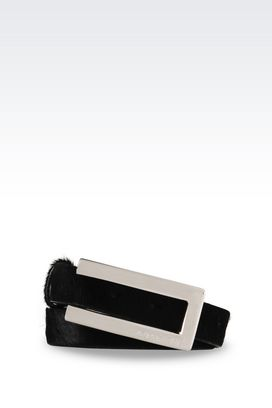 Armani Ledergürtel Für sie gürtel mit ponyfell-optik