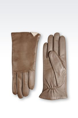 Armani Gloves Women touchscreen gloves in leather