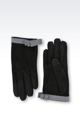 Armani Gloves Women gloves in leather with bow