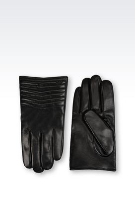 Armani Gloves Men nappa leather gloves