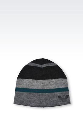 Armani Hats Men reversible hat in wool blend