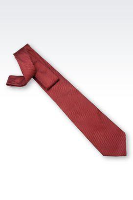 Armani Ties Men tie in micro patterned silk