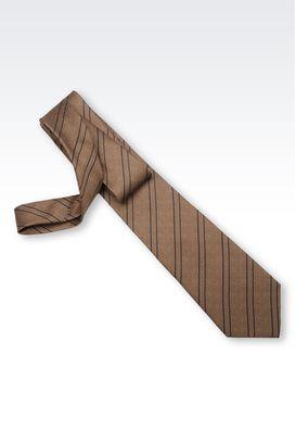 Armani Ties Men striped silk tie
