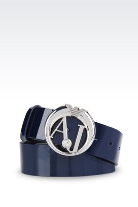 Armani Leather belt Women patent belt