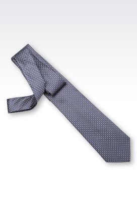 Armani Cravatte Uomo cravatta in microfantasia di seta