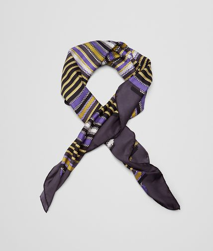 FOULARD IN GRAPHITE LIGHT PURPLE SILK