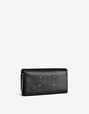 Maison Margiela Calfskin wallet with detachable chain