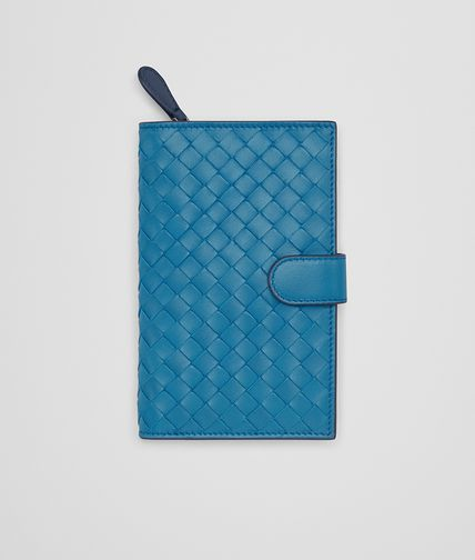 CONTINENTAL WALLET IN PEACOCK PACIFIC INTRECCIATO NAPPA