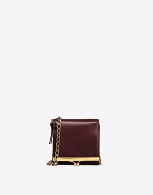 Maison Margiela Square calfskin wallet with detachable chain