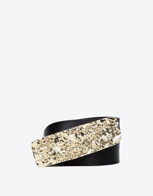 Maison Margiela Calfskin belt with 'wrinkle-effect' buckle